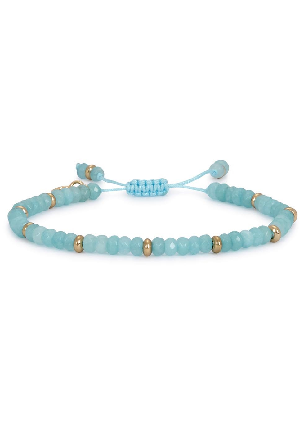 Northwood Sky Blue Quartzite Beaded Bracelet - predominant colour: pale blue; size: standard; material: plastic/rubber; finish: plain; embellishment: beading; occasions: creative work; style: bead; season: a/w 2016; wardrobe: highlight