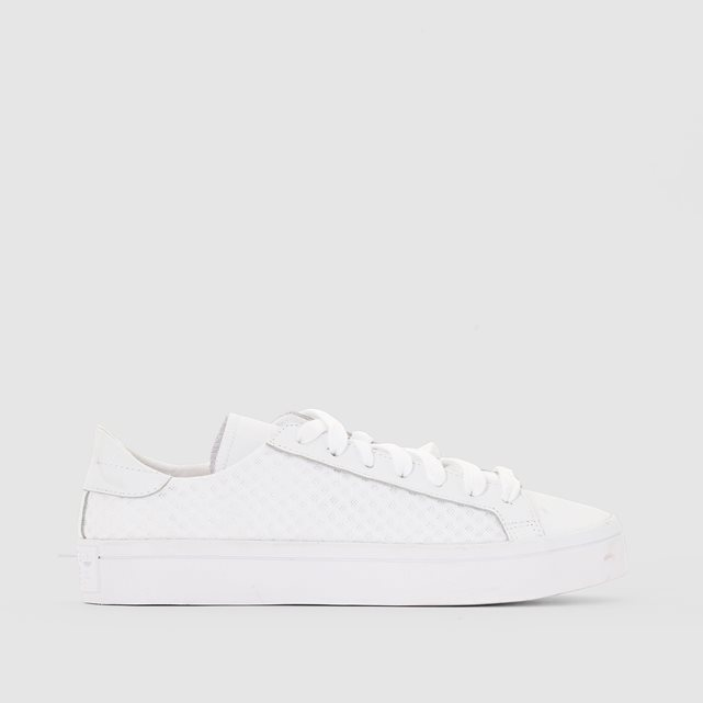 Court Vantage Trainers - predominant colour: white; occasions: casual, creative work; material: fabric; heel height: flat; toe: round toe; style: trainers; finish: plain; pattern: plain; season: a/w 2016