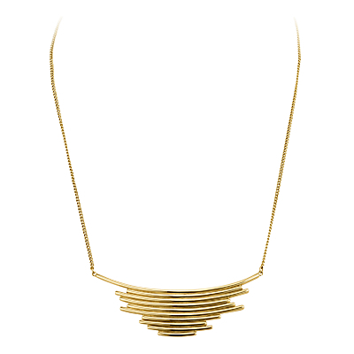 Dyrberg/Kern Large Pendant Necklace - predominant colour: gold; occasions: evening; style: pendant; length: short; size: standard; material: chain/metal; finish: metallic; season: a/w 2016; wardrobe: event
