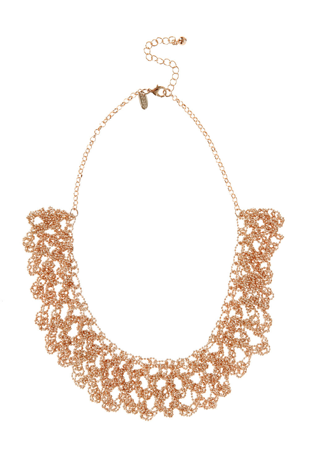 Sparkle Chain Necklace - predominant colour: gold; occasions: evening, creative work; length: mid; size: large/oversized; material: chain/metal; finish: metallic; style: bib/statement; season: a/w 2016; wardrobe: highlight