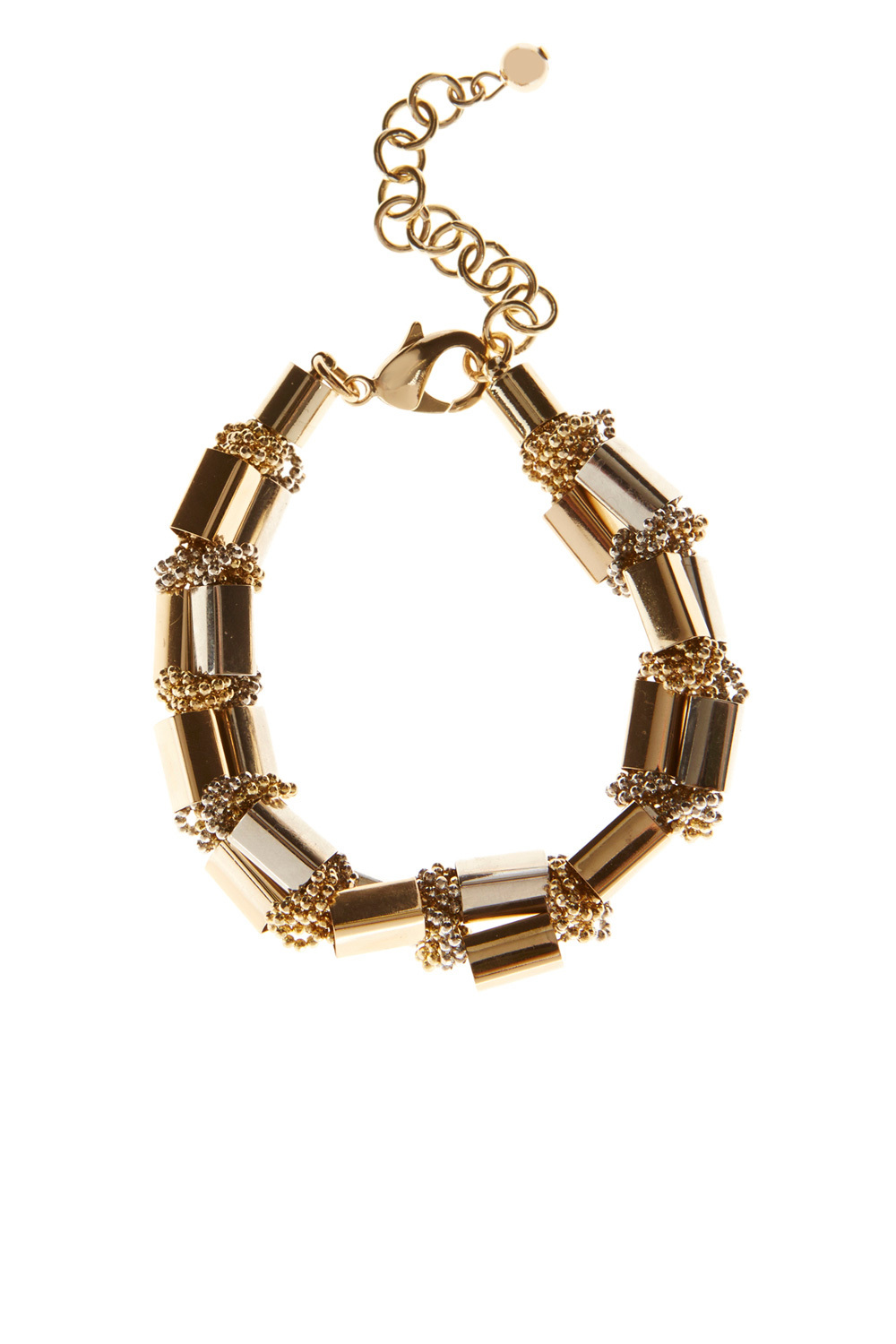 Lucia Block Bar Bracelet - predominant colour: gold; occasions: evening; style: bangle/standard; size: standard; material: chain/metal; finish: metallic; embellishment: chain/metal; season: a/w 2016; wardrobe: event