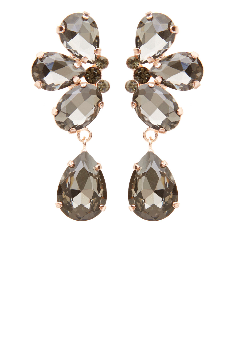 Gabi Statement Earrings - predominant colour: gold; occasions: evening, creative work; style: drop; length: long; size: large/oversized; material: chain/metal; fastening: pierced; finish: plain; embellishment: jewels/stone; season: a/w 2016; wardrobe: highlight