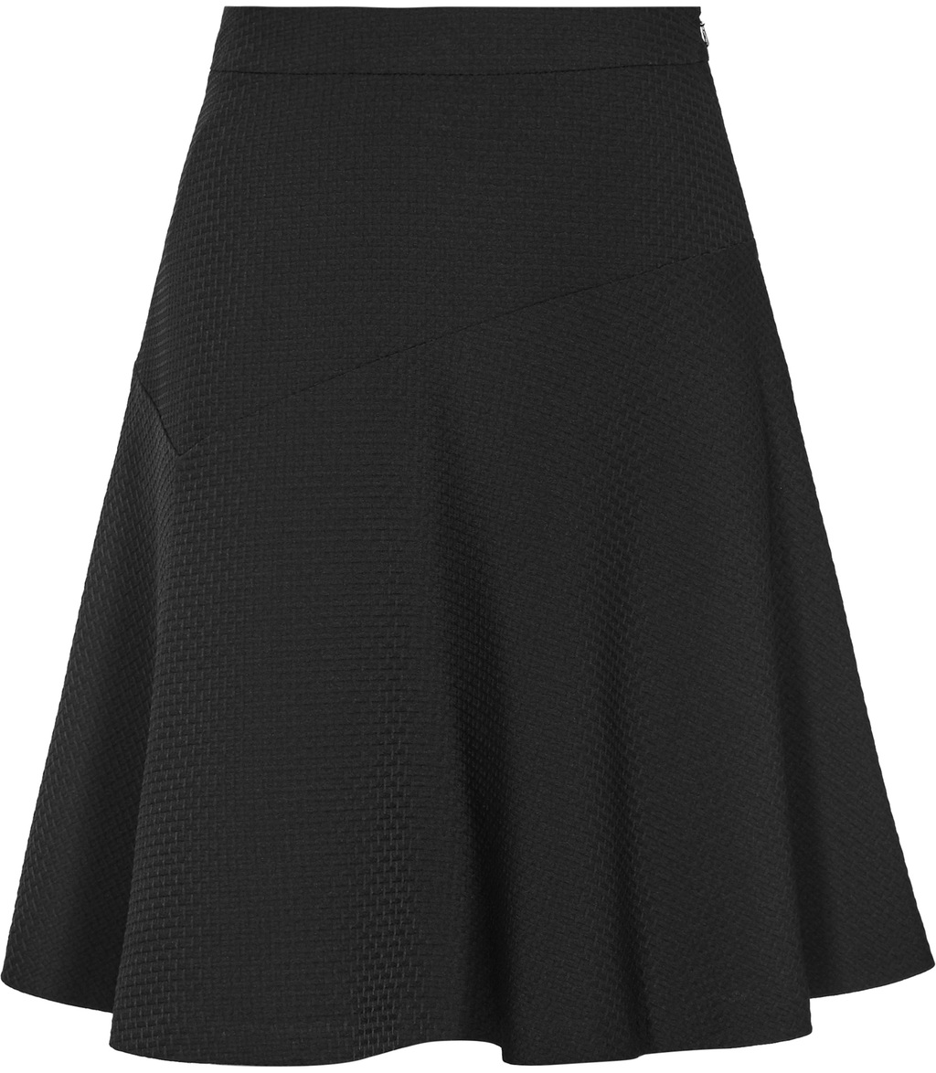 Ziggi Womens A Line Skirt In Black - pattern: plain; fit: loose/voluminous; waist: mid/regular rise; predominant colour: black; occasions: casual; length: just above the knee; style: a-line; fibres: polyester/polyamide - 100%; pattern type: fabric; texture group: jersey - stretchy/drapey; wardrobe: basic; season: a/w 2016