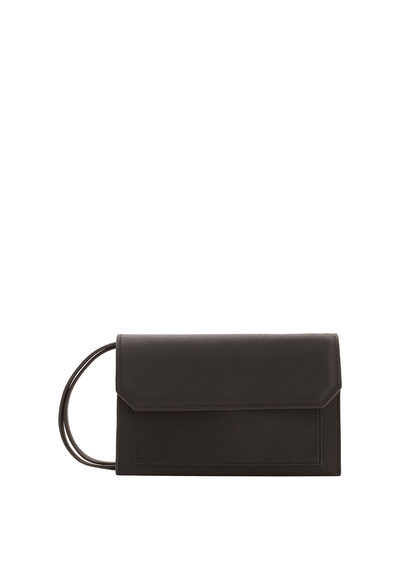Flap Cross Body Bag - predominant colour: black; occasions: casual, creative work; type of pattern: standard; style: clutch; length: across body/long; size: standard; material: faux leather; pattern: plain; finish: plain; wardrobe: investment; season: a/w 2016