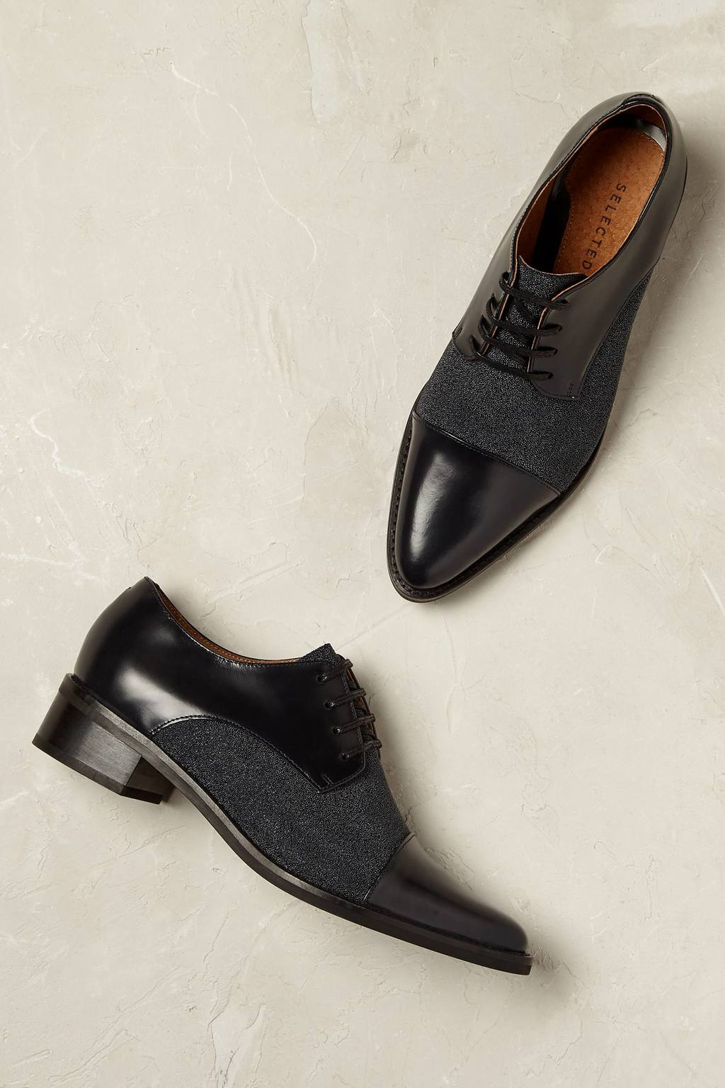 Hepburn Brogues - predominant colour: black; occasions: casual, creative work; material: leather; heel height: flat; toe: round toe; style: brogues; finish: plain; pattern: plain; wardrobe: basic; season: a/w 2016