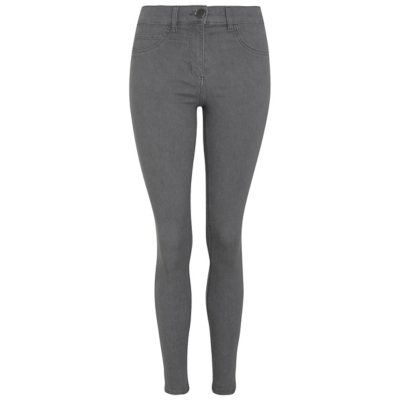 Wonderfit Skinny Jeans Light Grey - style: skinny leg; length: standard; pattern: plain; waist: mid/regular rise; predominant colour: light grey; occasions: casual, creative work; fibres: cotton - stretch; texture group: denim; pattern type: fabric; season: a/w 2016; wardrobe: highlight