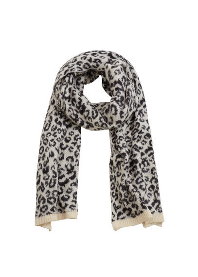 Animal Print Scarf - predominant colour: black; occasions: casual; type of pattern: heavy; style: regular; size: standard; material: fabric; pattern: animal print; season: a/w 2016