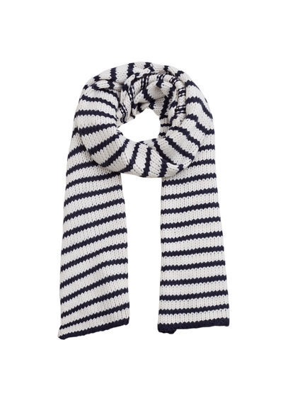 Striped Scarf - predominant colour: black; occasions: casual; type of pattern: heavy; style: regular; size: standard; material: fabric; pattern: horizontal stripes; season: a/w 2016; wardrobe: highlight