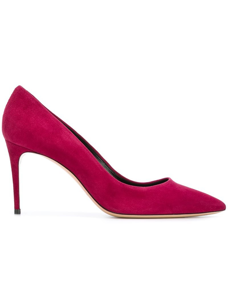 Pointed Toe Pumps, Women's, Pink/Purple - predominant colour: true red; occasions: evening; material: leather; heel: stiletto; toe: pointed toe; style: courts; finish: plain; pattern: plain; heel height: very high; season: a/w 2016; wardrobe: event