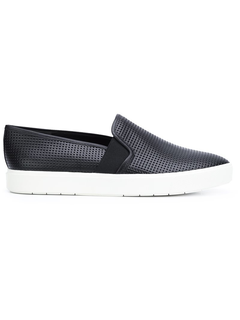 'blair 5' Slip On Sneakers, Women's, Size: 6.5, Black - predominant colour: black; occasions: casual; material: leather; heel height: flat; toe: round toe; finish: plain; pattern: plain; style: skate shoes; wardrobe: basic; season: a/w 2016