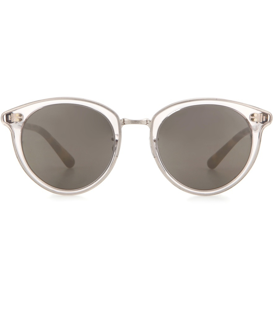 Spelman 50 Mirrored Sunglasses - occasions: casual, holiday; style: round; size: standard; material: plastic/rubber; pattern: plain; finish: plain; predominant colour: clear; season: a/w 2016; wardrobe: highlight