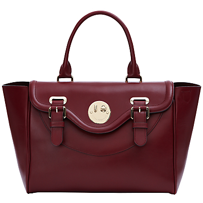 Happy Satchel - predominant colour: burgundy; occasions: casual, work, creative work; type of pattern: standard; style: tote; length: handle; size: standard; material: leather; pattern: plain; finish: plain; season: a/w 2016; wardrobe: highlight