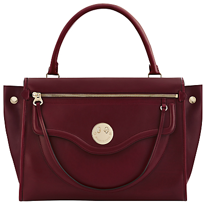 Happy Zippy Leather Shoulder Bag - predominant colour: burgundy; occasions: casual, work, creative work; type of pattern: standard; style: shoulder; length: shoulder (tucks under arm); size: standard; material: leather; pattern: plain; finish: plain; season: a/w 2016; wardrobe: highlight