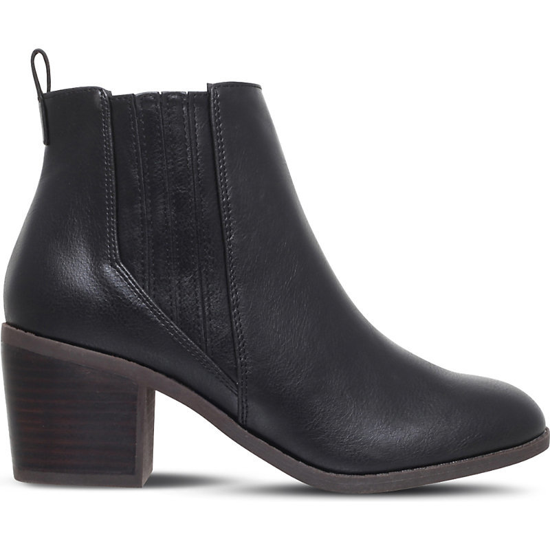 Taurus Ankle Boots, Women's, Eur 37 / 4 Uk Women, Black - predominant colour: black; occasions: casual; material: leather; heel height: mid; heel: block; toe: round toe; boot length: ankle boot; style: standard; finish: plain; pattern: plain; wardrobe: basic; season: a/w 2016