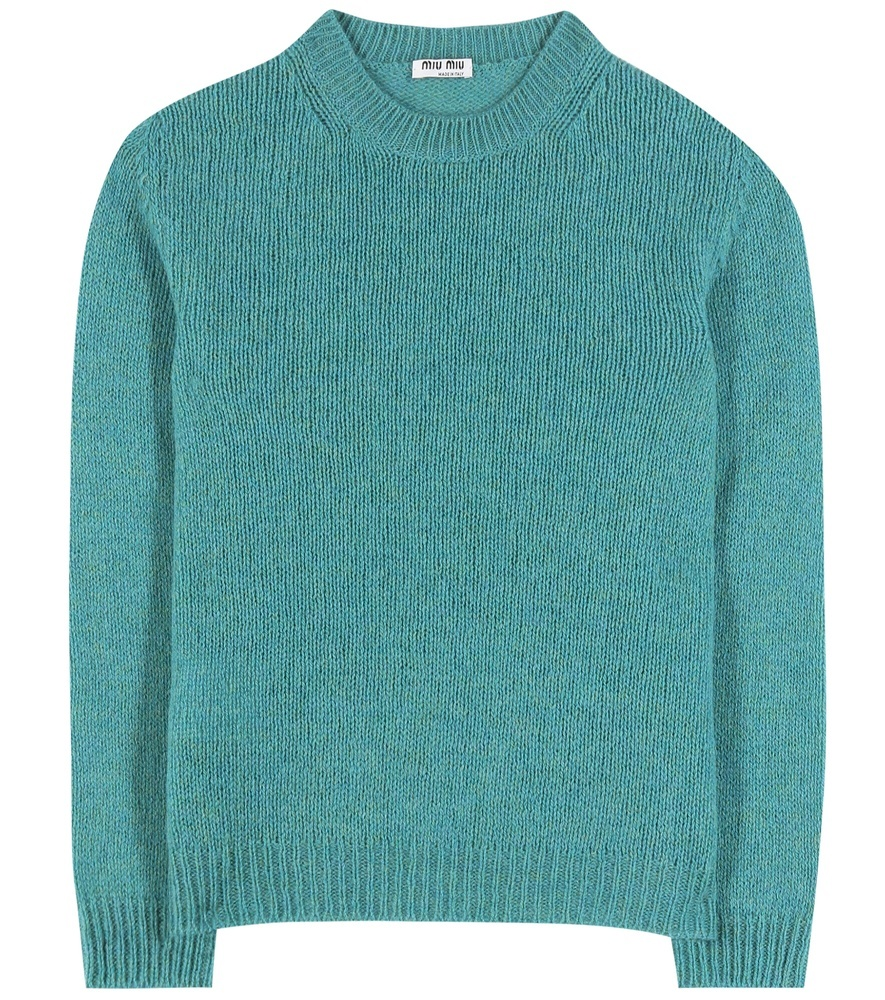 Wool Sweater - pattern: plain; neckline: high neck; style: standard; predominant colour: diva blue; occasions: casual; length: standard; fibres: wool - 100%; fit: standard fit; sleeve length: long sleeve; sleeve style: standard; texture group: knits/crochet; pattern type: fabric; season: a/w 2016; wardrobe: highlight