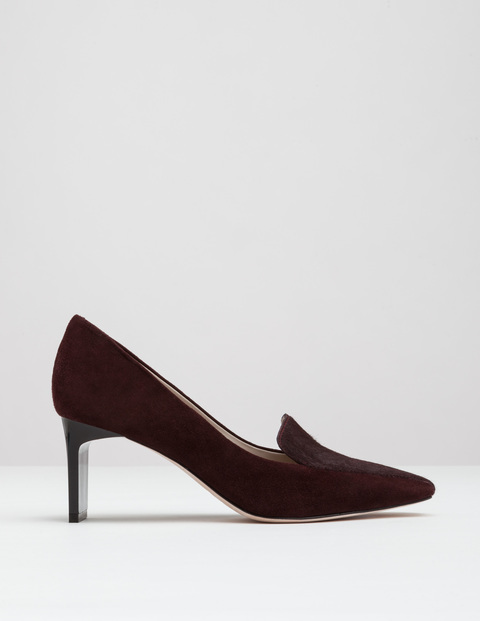 Amber Heel Oxblood Women, Oxblood - predominant colour: black; occasions: evening; material: suede; heel height: high; heel: stiletto; toe: pointed toe; style: courts; finish: plain; pattern: plain; season: a/w 2016