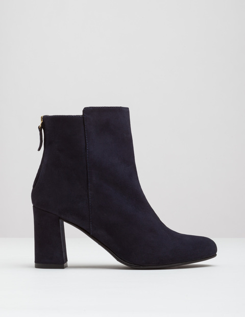 Odette Ankle Boot Navy Women, Navy - predominant colour: black; occasions: casual; material: suede; heel height: high; heel: block; toe: round toe; boot length: ankle boot; style: standard; finish: plain; pattern: plain; season: a/w 2016; wardrobe: highlight