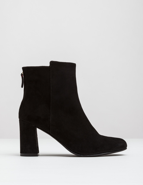 Odette Ankle Boot Black Women, Black - predominant colour: black; occasions: casual; material: suede; heel height: high; heel: block; toe: round toe; boot length: ankle boot; style: standard; finish: plain; pattern: plain; season: a/w 2016; wardrobe: highlight