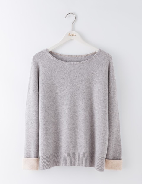 Rosannah Cashmere Jumper Grey Melange/Chinchilla Women, Grey Melange/Chinchilla - neckline: round neck; pattern: plain; style: standard; predominant colour: light grey; occasions: casual; length: standard; fit: standard fit; fibres: cashmere - 100%; sleeve length: long sleeve; sleeve style: standard; texture group: knits/crochet; pattern type: knitted - fine stitch; wardrobe: investment; season: a/w 2016
