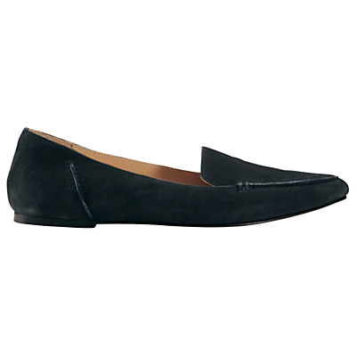 Celeste Pointed Toe Loafers - predominant colour: navy; occasions: casual, work, creative work; material: leather; heel height: flat; toe: round toe; style: ballerinas / pumps; finish: plain; pattern: plain; season: s/s 2016; wardrobe: basic