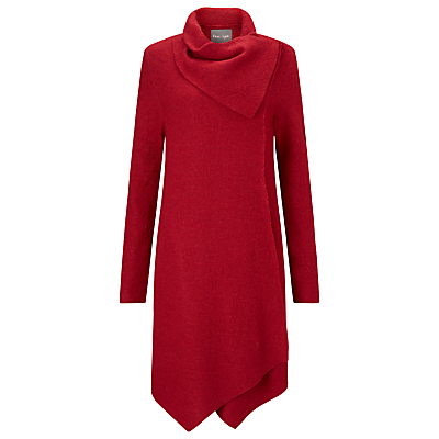 Bellona Waterfall Coat - pattern: plain; collar: shawl/waterfall; fit: loose; predominant colour: true red; occasions: casual, creative work; fibres: acrylic - mix; length: below the knee; sleeve length: long sleeve; sleeve style: standard; collar break: low/open; pattern type: fabric; texture group: woven bulky/heavy; style: duster coat; season: a/w 2016; wardrobe: highlight