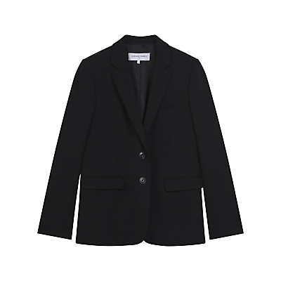 John Jacket, Black - pattern: plain; style: single breasted blazer; collar: standard lapel/rever collar; predominant colour: black; occasions: work; length: standard; fit: tailored/fitted; fibres: wool - stretch; sleeve length: long sleeve; sleeve style: standard; collar break: medium; pattern type: fabric; texture group: woven light midweight; wardrobe: investment; season: a/w 2016