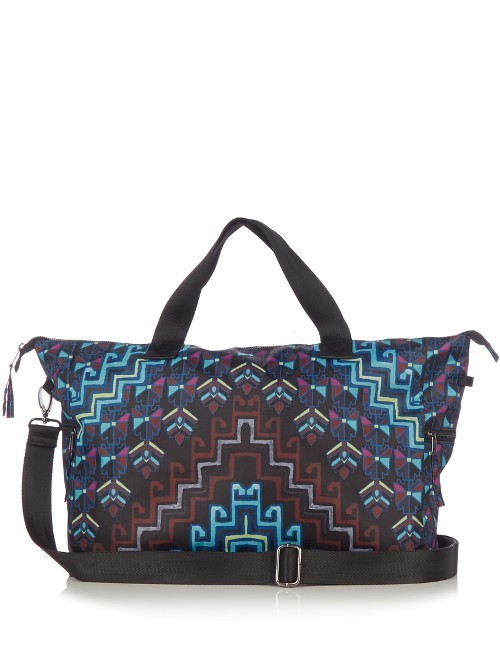 Rug Print Bag - predominant colour: diva blue; occasions: casual, creative work; type of pattern: heavy; style: tote; length: handle; size: oversized; material: fabric; finish: plain; pattern: patterned/print; multicoloured: multicoloured; season: a/w 2016
