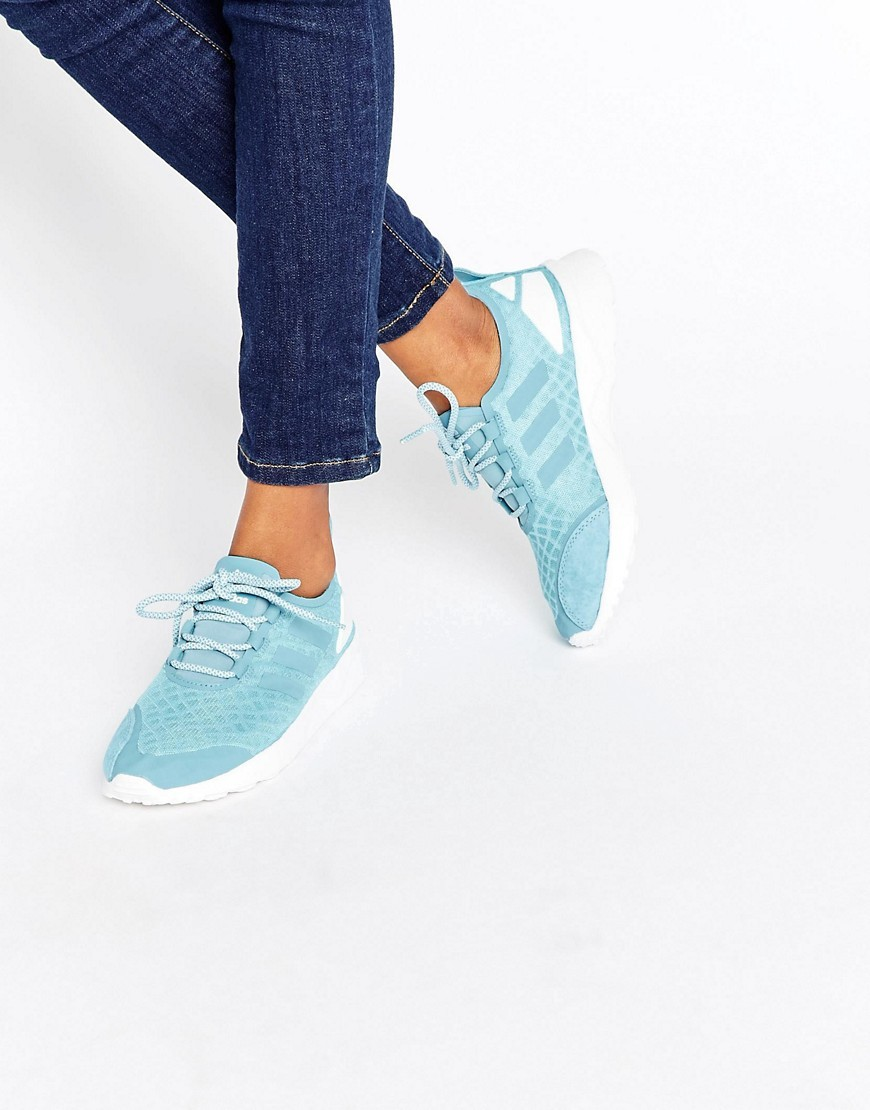 Originals Zx Flux Adv Verve Blue - predominant colour: pale blue; occasions: casual, activity; material: suede; heel height: flat; toe: round toe; style: trainers; finish: plain; pattern: plain; season: a/w 2016