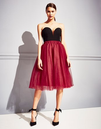 Tutu Midi Skirt - length: below the knee; pattern: plain; style: full/prom skirt; fit: loose/voluminous; waist: mid/regular rise; predominant colour: true red; occasions: evening; fibres: polyester/polyamide - stretch; pattern type: fabric; texture group: net/tulle; season: a/w 2016; wardrobe: event