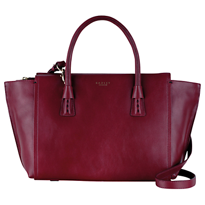 Wimbledon Medium Leather Shoulder Bag - predominant colour: aubergine; occasions: casual, work, creative work; type of pattern: standard; style: tote; length: handle; size: standard; material: leather; pattern: plain; finish: plain; season: s/s 2016; wardrobe: highlight