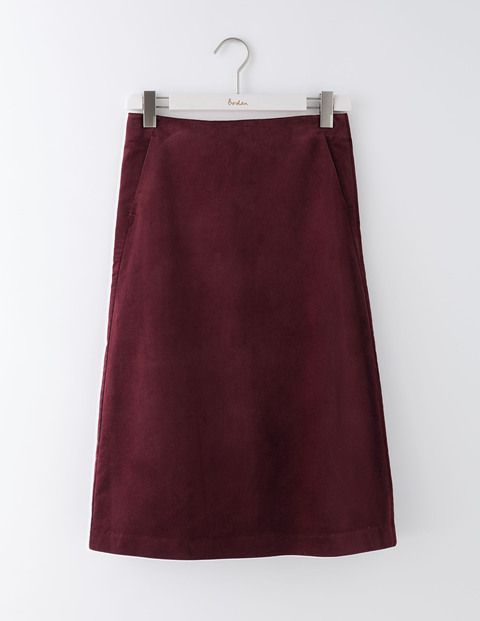 Maude Skirt Dark Burgundy Women, Dark Burgundy - pattern: plain; style: straight; waist: mid/regular rise; predominant colour: burgundy; occasions: work, creative work; length: just above the knee; fibres: cotton - stretch; fit: straight cut; pattern type: fabric; texture group: velvet/fabrics with pile; season: a/w 2016; wardrobe: highlight