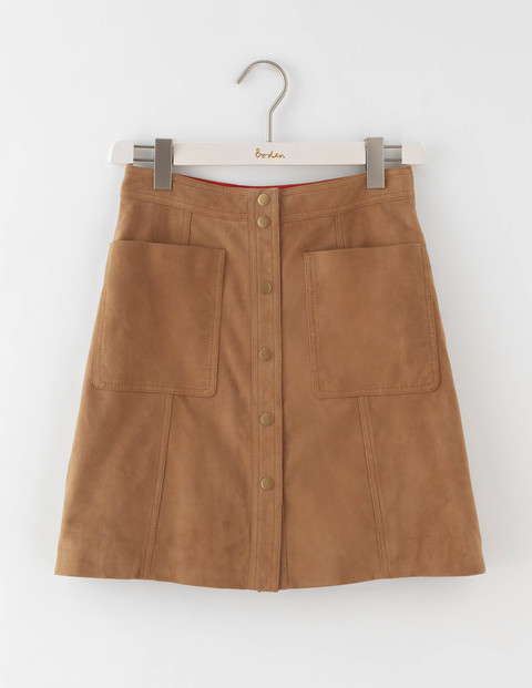 Suede Mini Skirt Tan Women, Tan - length: mini; pattern: plain; fit: loose/voluminous; waist: mid/regular rise; predominant colour: tan; occasions: casual, creative work; style: mini skirt; fibres: leather - 100%; pattern type: fabric; texture group: suede; season: a/w 2016; wardrobe: highlight