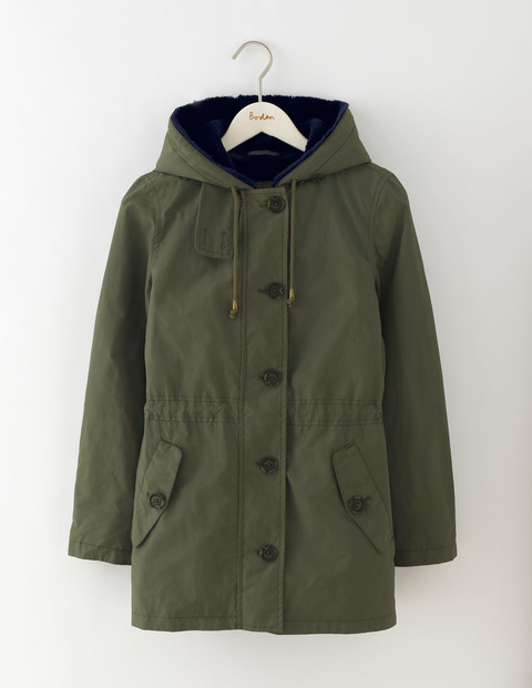 Penzance Parka Khaki Women, Khaki - pattern: plain; length: below the bottom; fit: loose; style: parka; collar: high neck; predominant colour: khaki; occasions: casual; fibres: cotton - mix; waist detail: belted waist/tie at waist/drawstring; sleeve length: long sleeve; sleeve style: standard; texture group: technical outdoor fabrics; collar break: high; pattern type: fabric; wardrobe: basic; season: a/w 2016