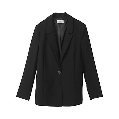 Summer Jacket, Black - pattern: plain; style: single breasted blazer; fit: slim fit; collar: standard lapel/rever collar; predominant colour: black; occasions: work; length: standard; fibres: polyester/polyamide - stretch; sleeve length: long sleeve; sleeve style: standard; collar break: medium; pattern type: fabric; texture group: woven light midweight; season: a/w 2016
