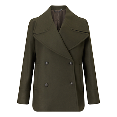 Giant Rever Classic Peacoat - pattern: plain; length: standard; collar: wide lapels; style: pea coat; predominant colour: khaki; occasions: casual, creative work; fit: straight cut (boxy); fibres: wool - mix; sleeve length: long sleeve; sleeve style: standard; collar break: medium; pattern type: fabric; texture group: woven bulky/heavy; wardrobe: basic; season: a/w 2016
