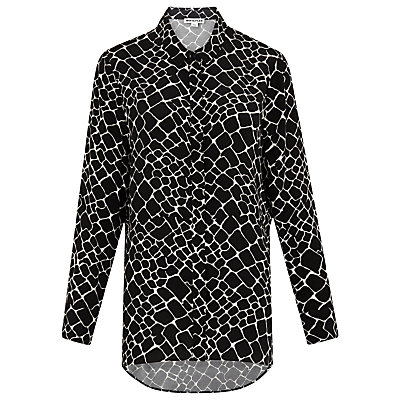 Giraffe Print Shirt, Black/Multi - neckline: shirt collar/peter pan/zip with opening; style: shirt; secondary colour: white; predominant colour: black; occasions: casual, creative work; length: standard; fit: straight cut; sleeve length: long sleeve; sleeve style: standard; pattern type: fabric; pattern size: standard; pattern: patterned/print; texture group: woven light midweight; fibres: viscose/rayon - mix; season: a/w 2016; wardrobe: highlight
