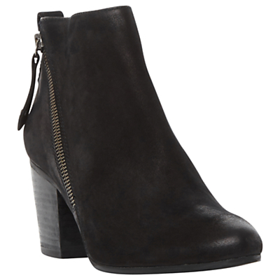 Jaydun Block Heeled Ankle Boots - predominant colour: black; occasions: casual, work, creative work; material: leather; heel height: high; heel: block; toe: round toe; boot length: ankle boot; style: standard; finish: plain; pattern: plain; season: a/w 2016; wardrobe: highlight