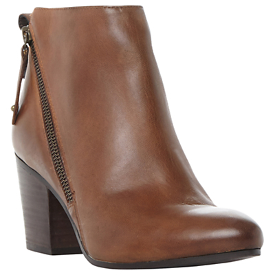 Jaydun Block Heeled Ankle Boots - predominant colour: chocolate brown; occasions: casual, creative work; material: leather; heel height: high; heel: block; toe: round toe; boot length: ankle boot; style: standard; finish: plain; pattern: plain; season: a/w 2016; wardrobe: highlight