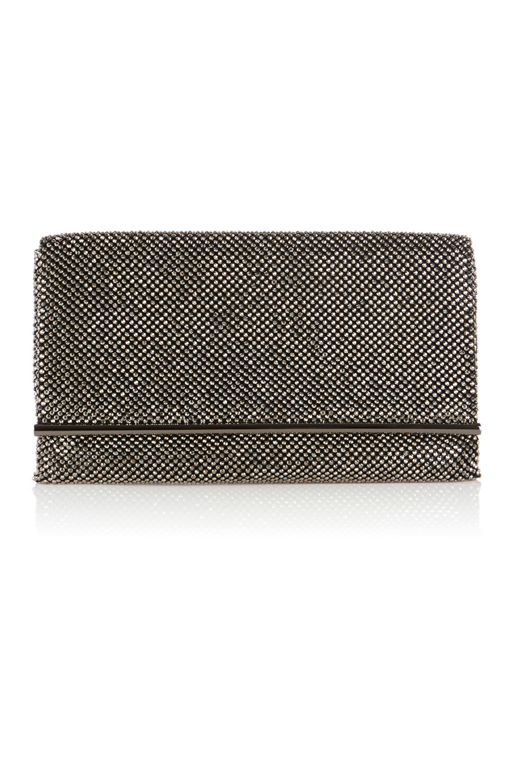 Blair Sparkle Bag - predominant colour: silver; occasions: evening, occasion; type of pattern: standard; style: clutch; length: hand carry; size: small; material: fabric; pattern: plain; finish: metallic; season: a/w 2016; wardrobe: event