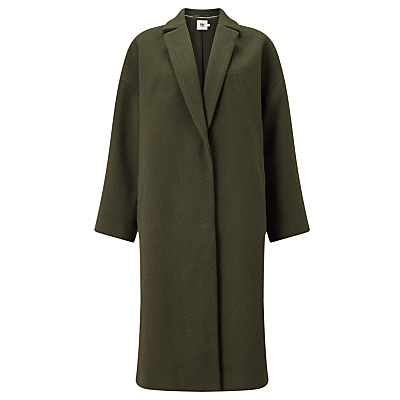 Shawl Collar Coat, Green - pattern: plain; fit: loose; style: single breasted; length: on the knee; collar: standard lapel/rever collar; predominant colour: khaki; occasions: casual; fibres: wool - mix; sleeve length: long sleeve; sleeve style: standard; collar break: medium; pattern type: fabric; texture group: woven bulky/heavy; wardrobe: basic; season: a/w 2016