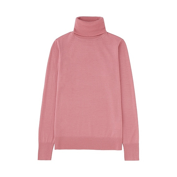 Women Extra Fine Merino Turtle Neck Sweater (14 Colours) Pink - pattern: plain; neckline: roll neck; style: standard; predominant colour: pink; occasions: casual, work, creative work; length: standard; fibres: wool - 100%; fit: standard fit; sleeve length: long sleeve; sleeve style: standard; texture group: knits/crochet; pattern type: knitted - fine stitch; season: a/w 2016; wardrobe: highlight