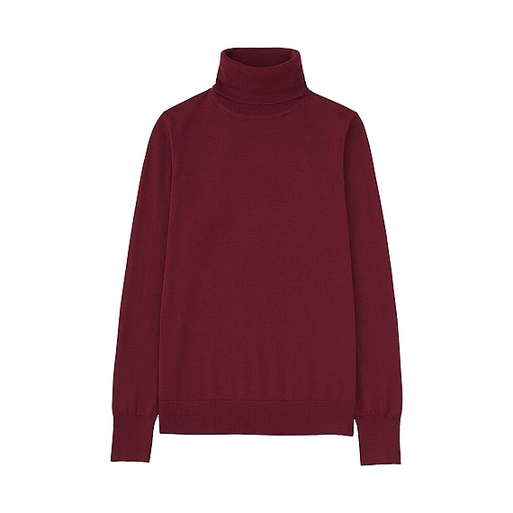 Women Extra Fine Merino Turtle Neck Sweater (14 Colours) Red - pattern: plain; neckline: roll neck; style: standard; predominant colour: burgundy; occasions: casual; length: standard; fibres: wool - 100%; fit: standard fit; sleeve length: long sleeve; sleeve style: standard; texture group: knits/crochet; pattern type: knitted - fine stitch; season: a/w 2016; wardrobe: highlight