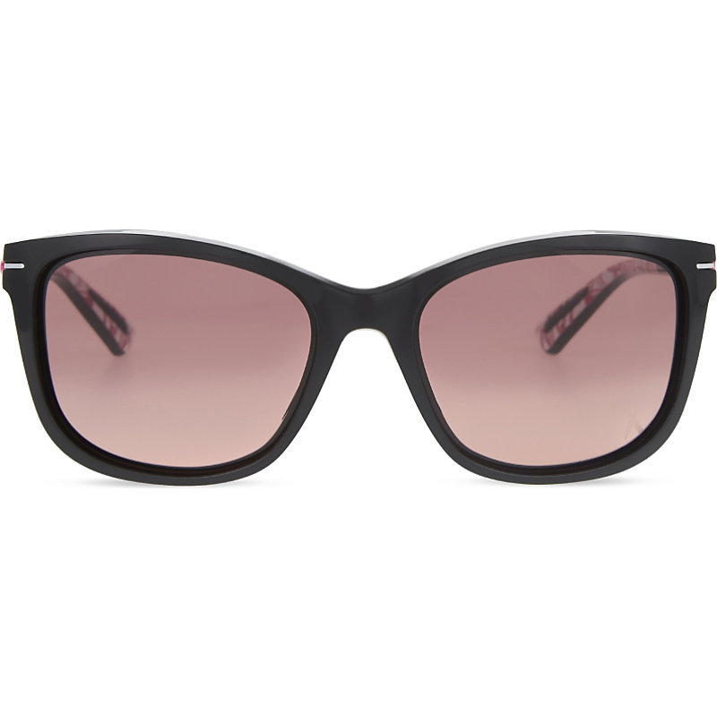 Oo9232 Drop In Square Frame Sunglasses, Women's, Black - predominant colour: black; occasions: casual, holiday; style: square; size: large; material: plastic/rubber; pattern: plain; finish: plain; wardrobe: basic; season: a/w 2016