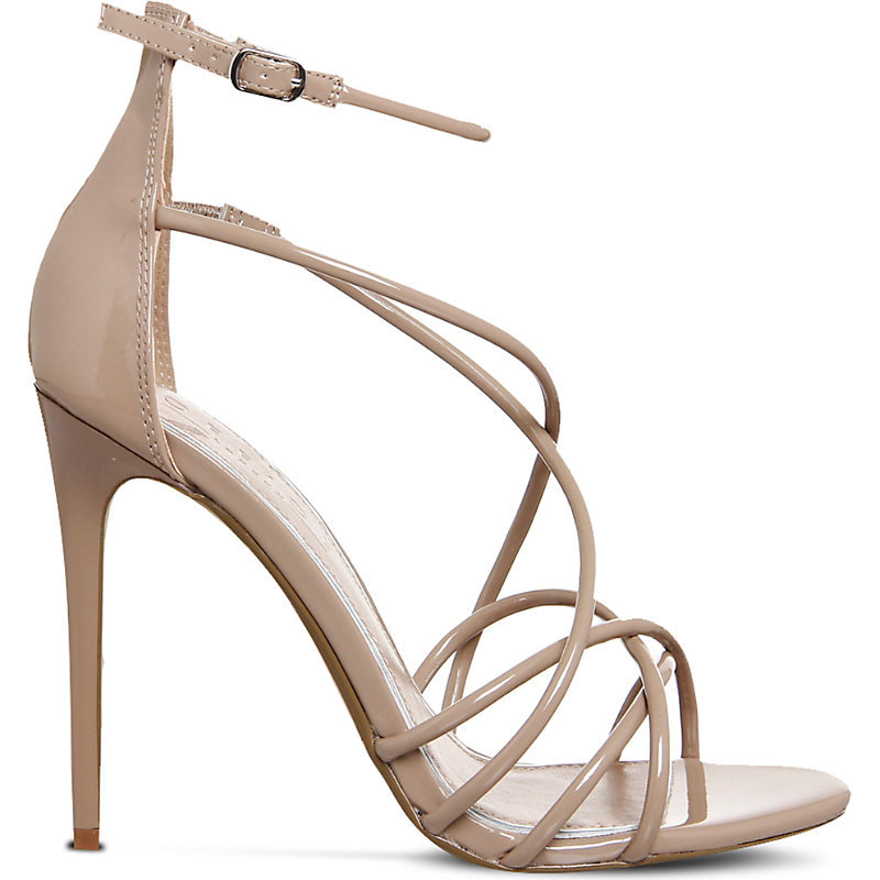 Angel Patent Strappy Sandals, Women's, Nude Patent - predominant colour: nude; occasions: evening, occasion; material: leather; ankle detail: ankle strap; heel: stiletto; toe: open toe/peeptoe; style: strappy; finish: patent; pattern: plain; heel height: very high; season: a/w 2016; wardrobe: event
