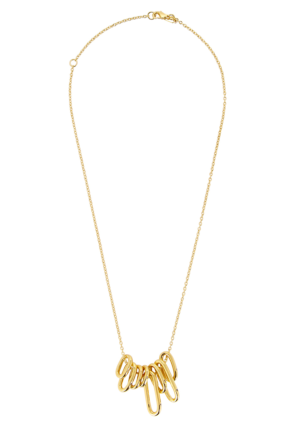 Marit 23kt Gold Plated Necklace - predominant colour: gold; occasions: evening, occasion; style: pendant; length: short; size: standard; material: chain/metal; finish: metallic; season: a/w 2016; wardrobe: event