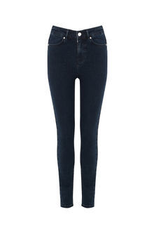 Stiletto Skinny Jeans - style: skinny leg; length: standard; pattern: plain; pocket detail: traditional 5 pocket; waist: mid/regular rise; predominant colour: navy; occasions: casual; fibres: cotton - stretch; texture group: denim; pattern type: fabric; wardrobe: basic; season: a/w 2016