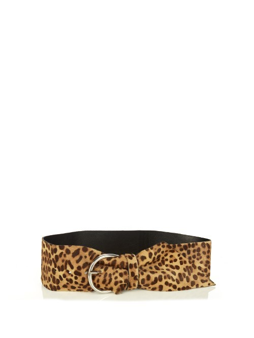 Yanis Leopard Calf Hair Belt - predominant colour: camel; occasions: casual, creative work; type of pattern: heavy; style: classic; size: oversized; worn on: waist; material: animal skin; pattern: animal print; finish: plain; season: a/w 2016