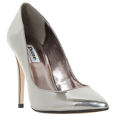 Aiyana Pointed Toe Court Shoes - predominant colour: silver; occasions: evening, occasion; material: suede; heel height: high; heel: stiletto; toe: pointed toe; style: courts; finish: plain; pattern: plain; season: s/s 2016
