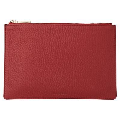 Bubble Leather Small Clutch Bag, Dark Red - predominant colour: burgundy; occasions: evening; type of pattern: standard; style: clutch; length: hand carry; size: standard; material: leather; pattern: plain; finish: plain; season: a/w 2016; wardrobe: event