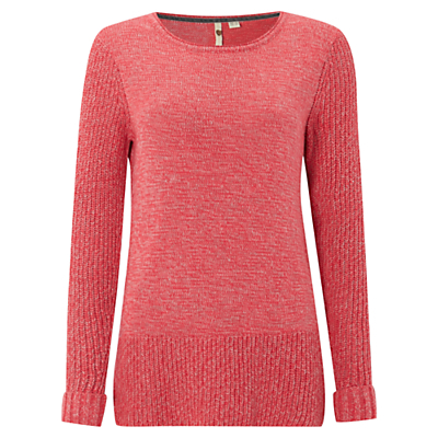 Goldsmiths Jumper, Sherbert Pink - neckline: round neck; pattern: plain; style: standard; predominant colour: pink; occasions: casual, creative work; length: standard; fibres: cotton - mix; fit: standard fit; sleeve length: long sleeve; sleeve style: standard; texture group: knits/crochet; pattern type: knitted - other; pattern size: standard; season: a/w 2016; wardrobe: highlight; trends: chunky knits
